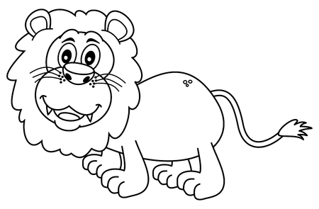 tawny: lion for coloring