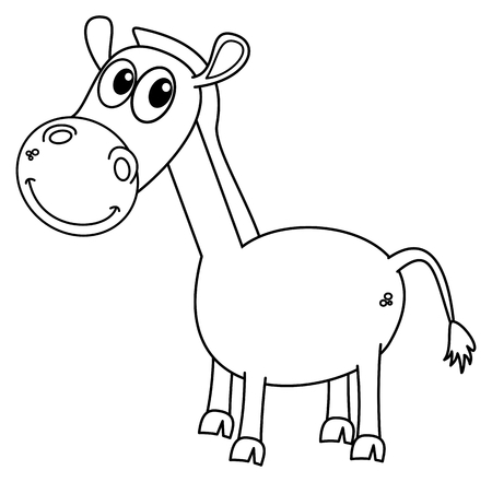 pet breeding: a horse for coloring Illustration