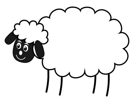 herbivorous animals: a white sheep