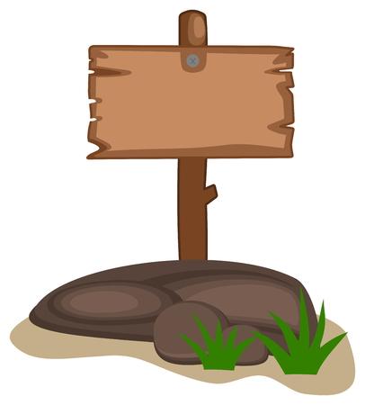 advertiser: rock con pannelli per cartone animato in legno
