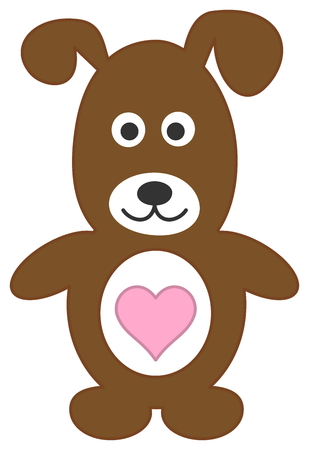 fart: dog standing with heart Illustration