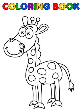giraffa: sonriendo jirafa para colorear