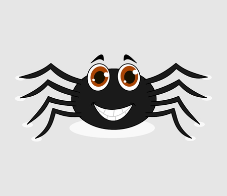 loveable: cheerful black spider