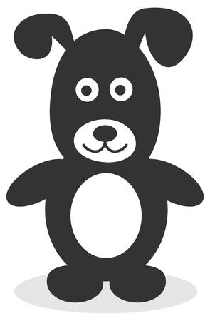 fart: black dog standing
