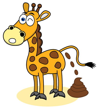 shit: giraffe with a shit Illustration