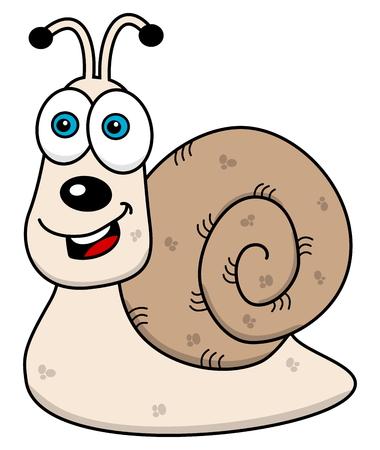 creep: cheerful snail profile Illustration