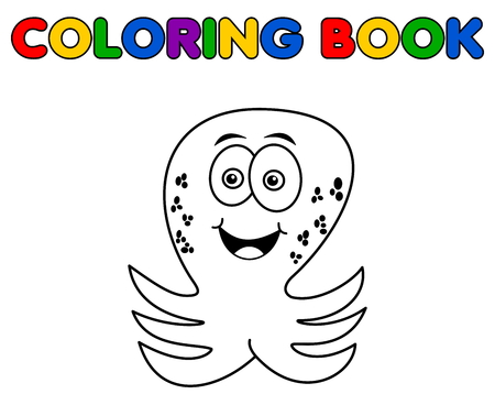 loveable: octopus merry standing for coloring