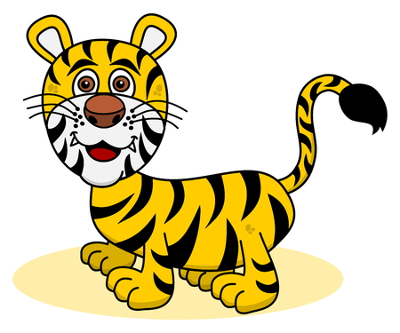 felidae: smiling tiger young Illustration