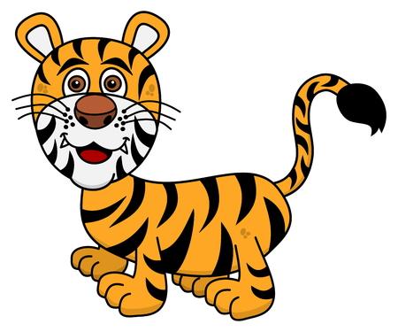 tawny: smiling tiger young Illustration