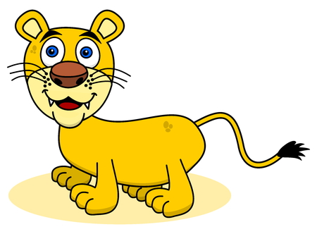 felidae: smiling young lion