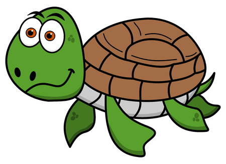 waterpolo: happy turtle swimming