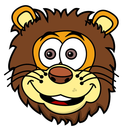 tawny: lion head smiling