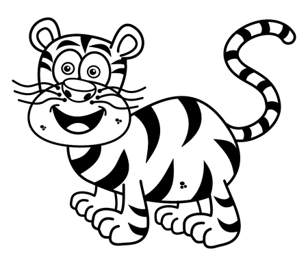 tawny: a tiger smiling for coloring