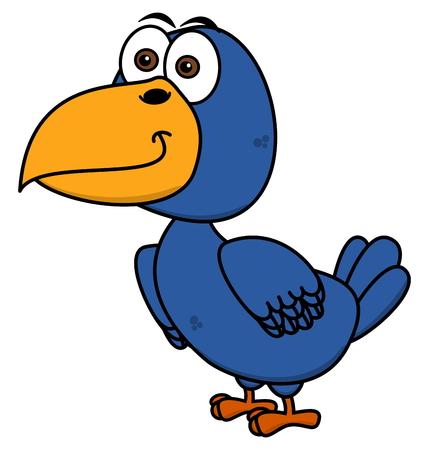 fledgeling: a raven is smiling profile Illustration