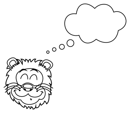 felidae: lion dreaming for coloring