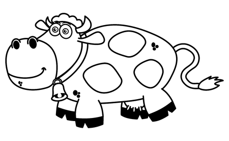 ruminate: a smiling cow coloring