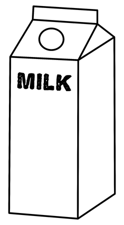 advertiser: blank milk box