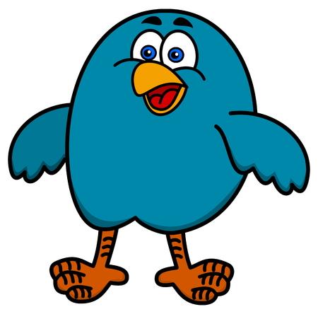 fledgeling: little bird smiling