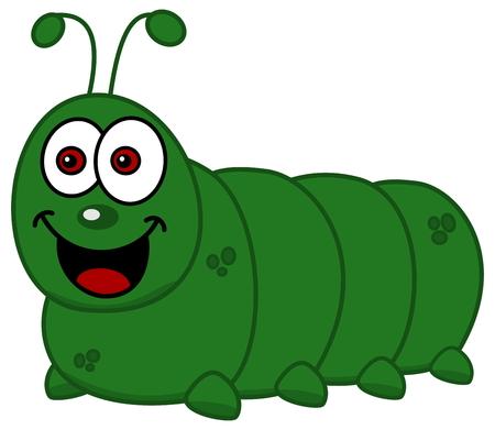 maggot: smiling caterpillar Illustration