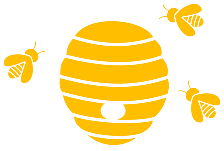 hive: hive with bees