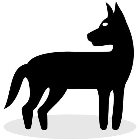 fart: black dog for icon Illustration