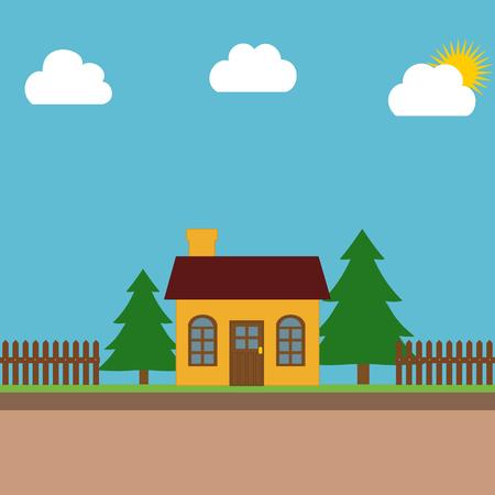 proprietary: House in garden