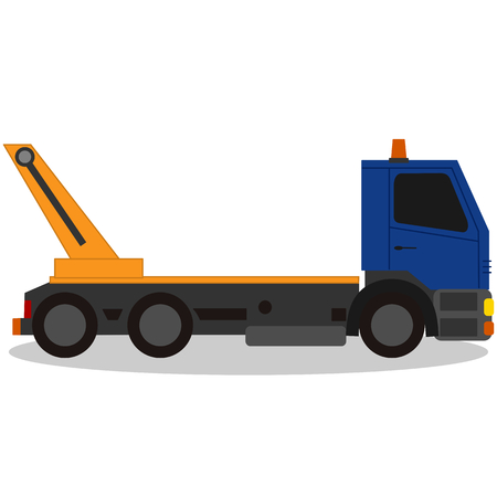 the wrecker: Tow truck, for breakdown vehicle Illustration