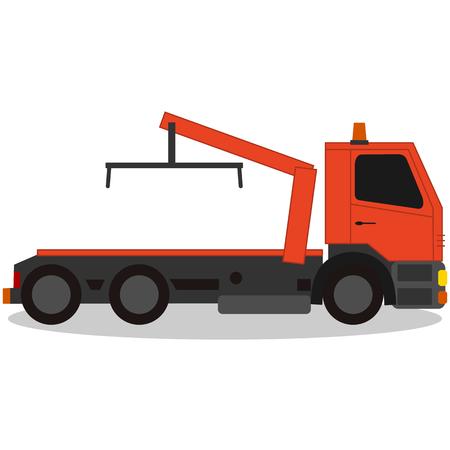 Tow truck, for breakdown vehicle Illustration