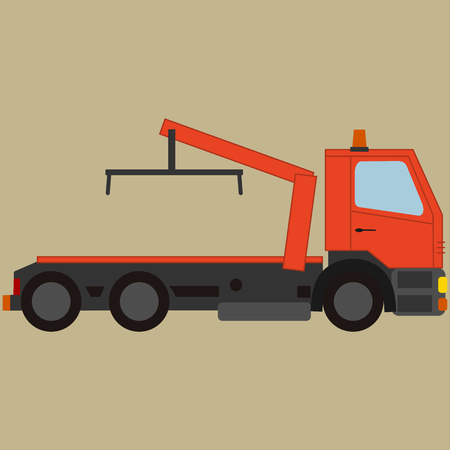 wreck: Tow truck, for breakdown vehicle Illustration