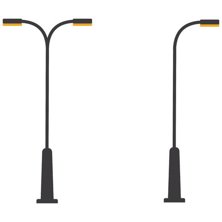 Street lamp single and double Vectores