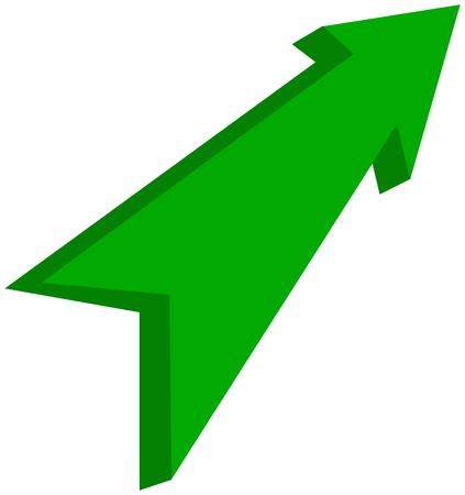Green arrow pointed - 3D Illustration Ilustração
