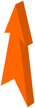 orange arrow pointed - 3D Illustration