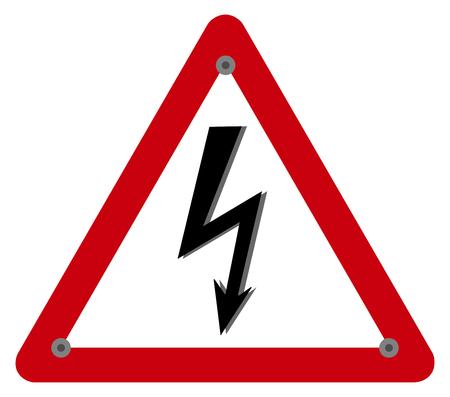 electrocution risk panel Vectores