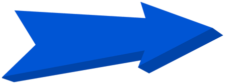 blue arrow pointed - 3D Illustration Illustration
