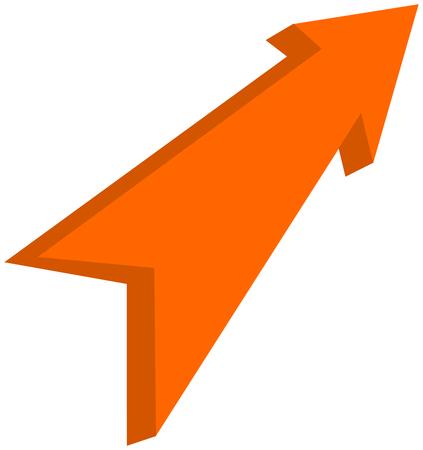 orange arrow pointed - 3D Illustration