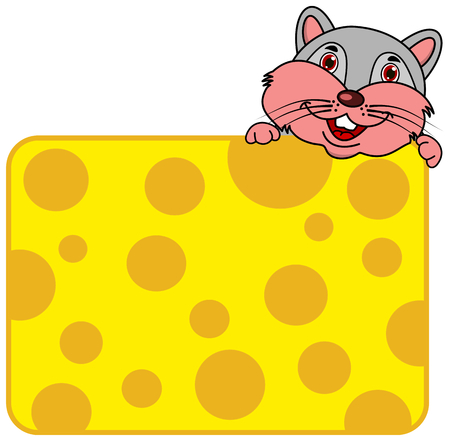 a mouse behind a large piece of cheese Foto de archivo - 120334416
