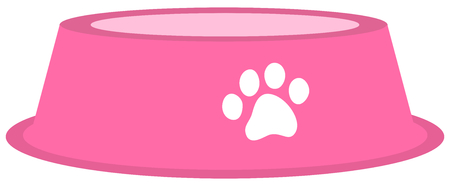 a dog or cat bowl to put food in Ilustracja