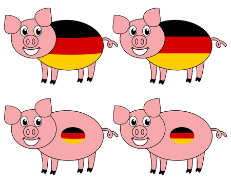 a smiling and happy pig raised in Germany Foto de archivo - 120334448