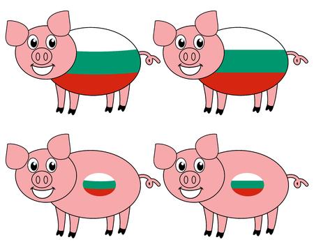 a smiling and happy pig raised in Bulgaria Foto de archivo - 120334457