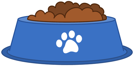 a dog or cat bowl full of food