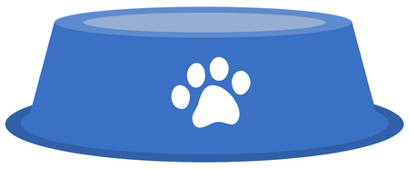 a dog or cat bowl to put food in Illustration