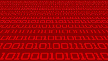 cyberspace concept with data and red numbers - 3D Illustration