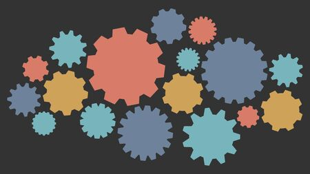 Gearwheel assembly representing an organizing mechanism