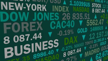 stock market index and real rates with a green shade