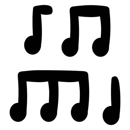 simple musical notes on a white background