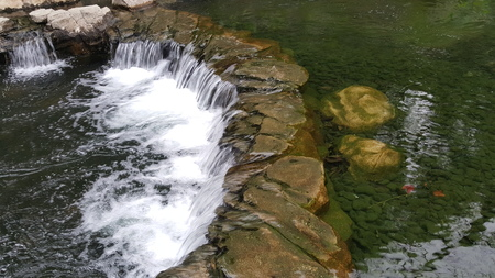 clear water: Crystal clear water waterfall in park