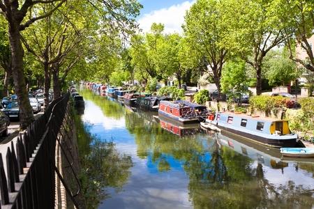the little venice: Regents Canal, Little Venice, London - England