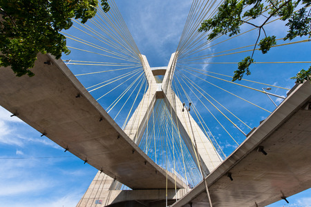 Cable-stayed bridge in Sao Paulo, Brazil