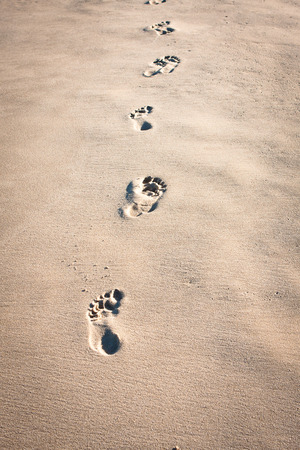 Footprints in the Sand Imagens