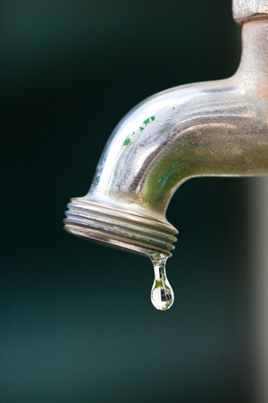 lack of water: Lack of water - Dripping tap